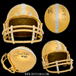 Crystamas Launches a New Sports Collectable: 24k Gold Signed Joe Montana & Jerry Rice Football Helmet, With Swarovski Crystals