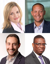 ICMCP appoints four new members to strategic advisory board: (left to right) top row; Shelley Westman, Aaron Hughes; bottom row: Gleb Reznik, and Michael Palmer