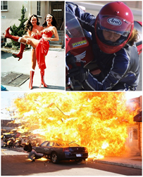 (L) Stunt Workers Jeannie Epper with Lynda Carter, (R) Melissa Stubbs (below) Lisa Hoyle