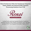 Renzi Foodservice Rolls Out Seamlessly Integrated Online, Mobile and Advanced RDC Payment Processing Solutions from FTNI