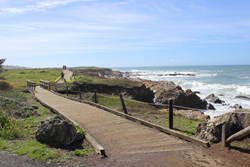The Moonstone Beach Boardwalk is characteristically Cambria, any time of year.