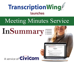 transccriptionwing launches insummary meeting minutes service