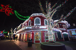A Kennywood Gift Shops Glows During Holiday Lights