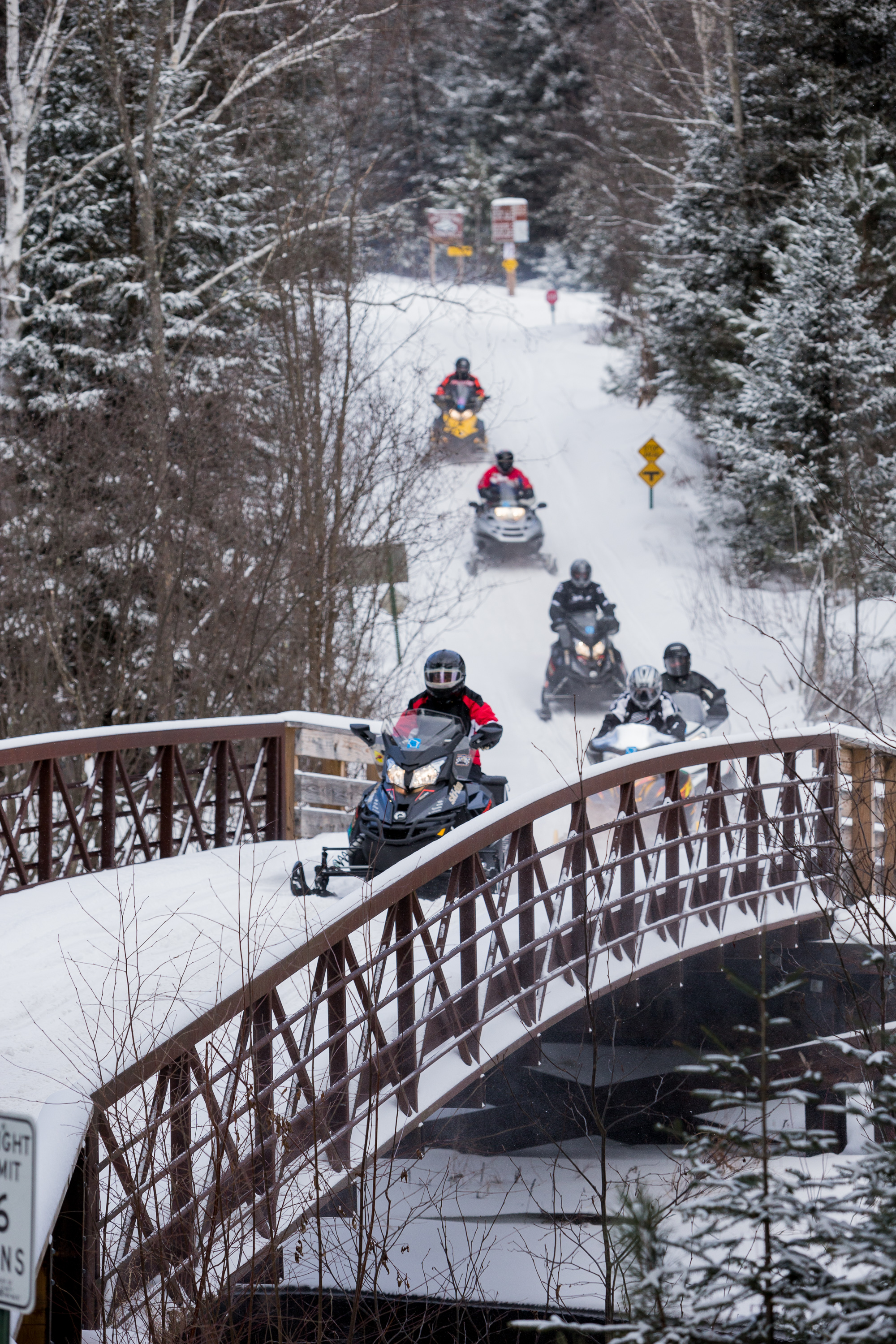 Winter Snow Brings Snowmobilers To Eagle River Area