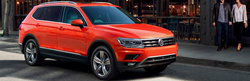 2019 Volkswagen Tiguan parked on city curb