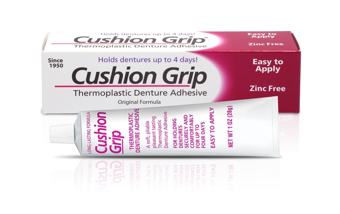 Secure Denture Adhesive >> USpharma Reintroduces Cushion Grip™ Original Formula to U ...