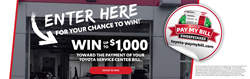 "banner image of toyota service center with text ""enter here to tin $1,000"""