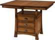 Weaver's Modesto Cabinet Dining Table Combines Table and Cabinet