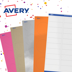 graphic about Avery Printable Stickers known as Avery® Revamps How It Sells Its Blank Printable Labels