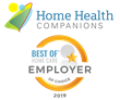 Home Health Companions Receives 2019 Best of Home Care®–Employer of Choice Award
