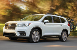 Front Diagonal View of 2019 Subaru Ascent in White