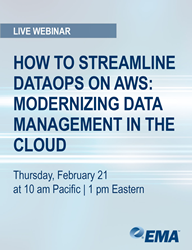 """How to Streamline DataOps on AWS: Modernizing Data Management in the Cloud"" Webinar"