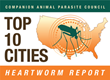 Cincinnati, Ohio, Ranked #1 in CAPC's Top 10 Cities Heartworm Report for January