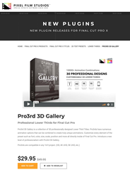 Pixel Film Studios Releases Pro3rd 3D Gallery for Final Cut