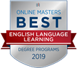 OnlineMasters.com Names Top Master's in English Language Learning Programs for 2019