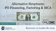 "Financial Poise™ Announces ""Alternative Structures- PO Financing, Factoring & MCA,"" a New Webinar Premiering March 21th at 3:00 PM CST through West LegalEdcenter™"