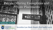 "Financial Poise™ Announces ""Private Offering Exemptions and Private Placements,"" a New Webinar Premiering March 27th at 3:00 PM CST through West LegalEdcenter™"