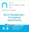 HotelsCombined Recognizes BCA Furnished Apartments Amongst the Best Accommodations in the United States for the Second Year in a Row