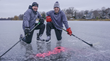 Minnesota Hockey Dads Set Guinness World Record for Longest Hockey Pass on Frozen Lake of the Isles