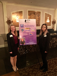Kristen Semple at Hudson Valley International Women's Day event in 2018 representing Interact Marketing