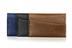 Minemo Wallet — sumptuous full-grain leather; three colors