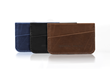 Clyff Wallet — in three sumptuous, full-grain leather colors