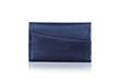 Minemo Wallet — blue full-grain leather