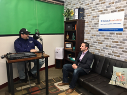 Joe Beccalori and Anthony Church in Interact Marketing's Studio