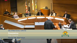 City of West Covina City Council Meeting, CA, Avior, Ease, Social Media eXstream, Swagit Productions