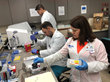 Technologists Paul Hakimata, Miguel Cintron-Torres and Beatriz Montoya are saving lives at Memorial Regional Hospital South by conducting next generation sequencing (NGS) testing.