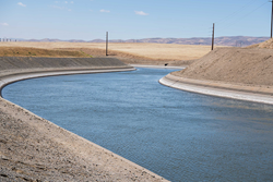 The Delta-Mendota Canal is part of the Central Valley Project in California.