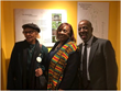(L to R) Vera Whitaker (Co-Founder, Flat Rock Archives), Apostle Joyce Waites (Descendant & Member of the Flat Rock Community), and Johnny Waits (Co-Founder/President, Flat Rock Archives)