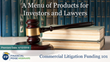 "Financial Poise™ Announces ""A Menu of Products for Investors and Lawyers"" a New Webinar Premiering April 10th at 3:00 PM CST through West LegalEdcenter™"