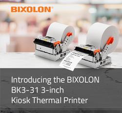 Introducing the BIXOLON BK3-31 3-inch Kiosk Printer