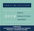 Creative Virtual Named Product Leader by Frost & Sullivan for AI-Enhanced Self-Service Solutions
