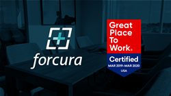 Forcura logo displayed next to Great Place to Work Certification Badge
