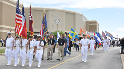 Corps of Cadets leading the March of Remembrance