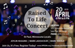 Raised To Life Concert Flyer