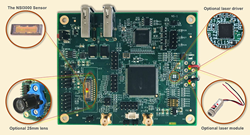 Evaluation board for Newsite Imaging High Performance CMOS Sensors from Phase1Vision.com.