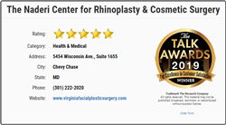 The Naderi Center for Rhinoplasty & Cosmetic Surgery Awarded