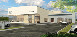 EXTERIOR DIGITAL RENDITION OF INFINITI Milwaukee set to officially break ground on May 1, 2019 at noon FRANCIS MARIELA COMMUNICATIONS AUTOMOTIVE PRESS RELEASE