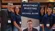 Apartment Building Investing Podcast Host, Author and Coach Michael Blank at Deal Maker Live Event with team.