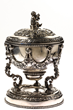 Rear View, Covered Historical Silver Presentation Cup, From John McInnis Auctioneers Two Day May, 2019 Estates Auction.