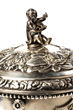 Finial Detail, Covered Historical Silver Presentation Cup, From John McInnis Auctioneers Two Day May, 2019 Estates Auction.