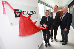 MSP Ivan McKee Minister for Trade, Investment and Innovation visits the Calero office in Edinburgh with Joe Pajer CEO and Steve Kaplan.  Picture by Stewart Attwood.    All images © Stewart Attwood Photography 2019.  All other rights are reserved. Use in any other context is expressly prohibited without prior permission. No Syndication Permitted.