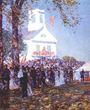 Childe Hassam, Country Fair, New England, 1890. Oil on canvas, 24 1/4 x 20 in. Private collection, courtesy of Michael N. Altman Fine Art & Advisory Services, LLC.