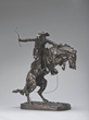 Frederic Remington, The Broncho Buster, modeled 1895 (cast before May 1902). Bronze, Roman Bronze Works, Cast number 12, 23 1/4 x 22 x 13 in.  The Roath Collection, Denver Art Museum, 2013.91.