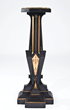 Kimbel & Cabus, American Pedestal, 1870. Ebonized cherry, incised and gilt, polychromed, 37 1/2 x 14 1/2 x 14 1/2 in. Photography: Mark Ostrander; courtesy, Conner – Rosenkranz, NY.