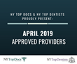 NY Top Docs Proudly Presents April 2019 Approved Providers
