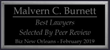 Malvern C. Burnett Recognized as one of the Best Lawyers By Biz New Orleans